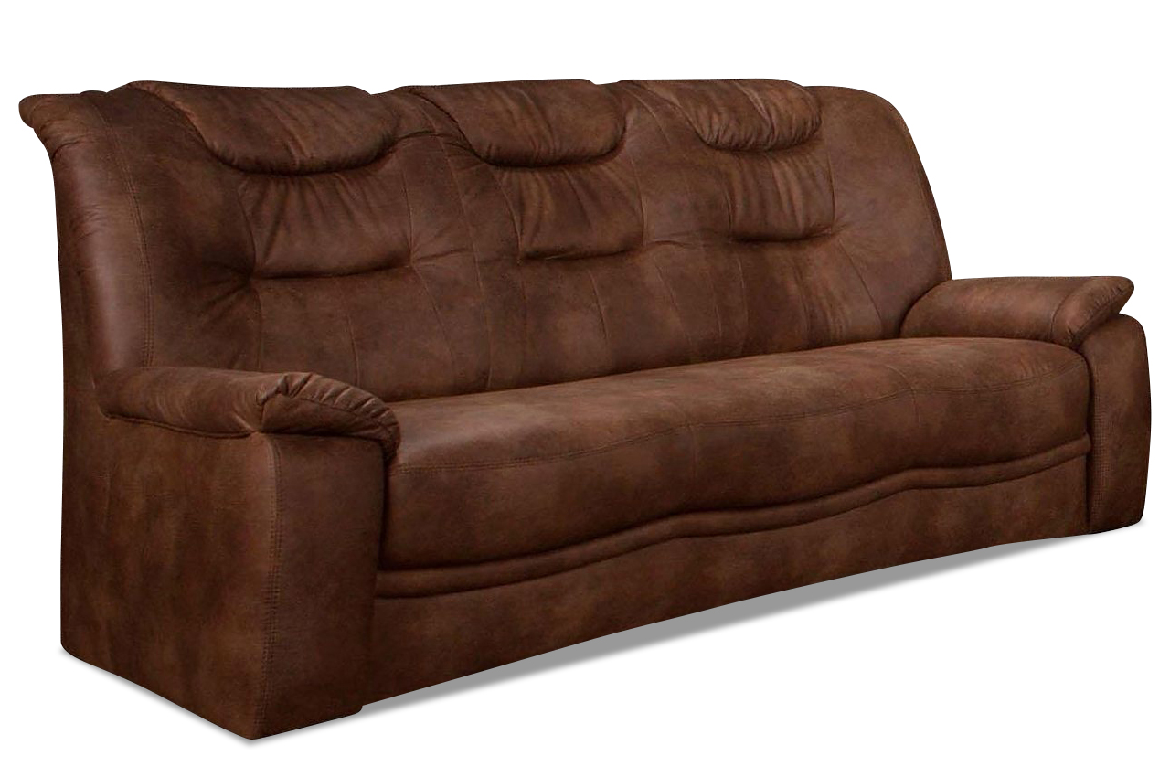 3er sofa grande anthrazit mit federkern sofas zum for Sofa anthrazit