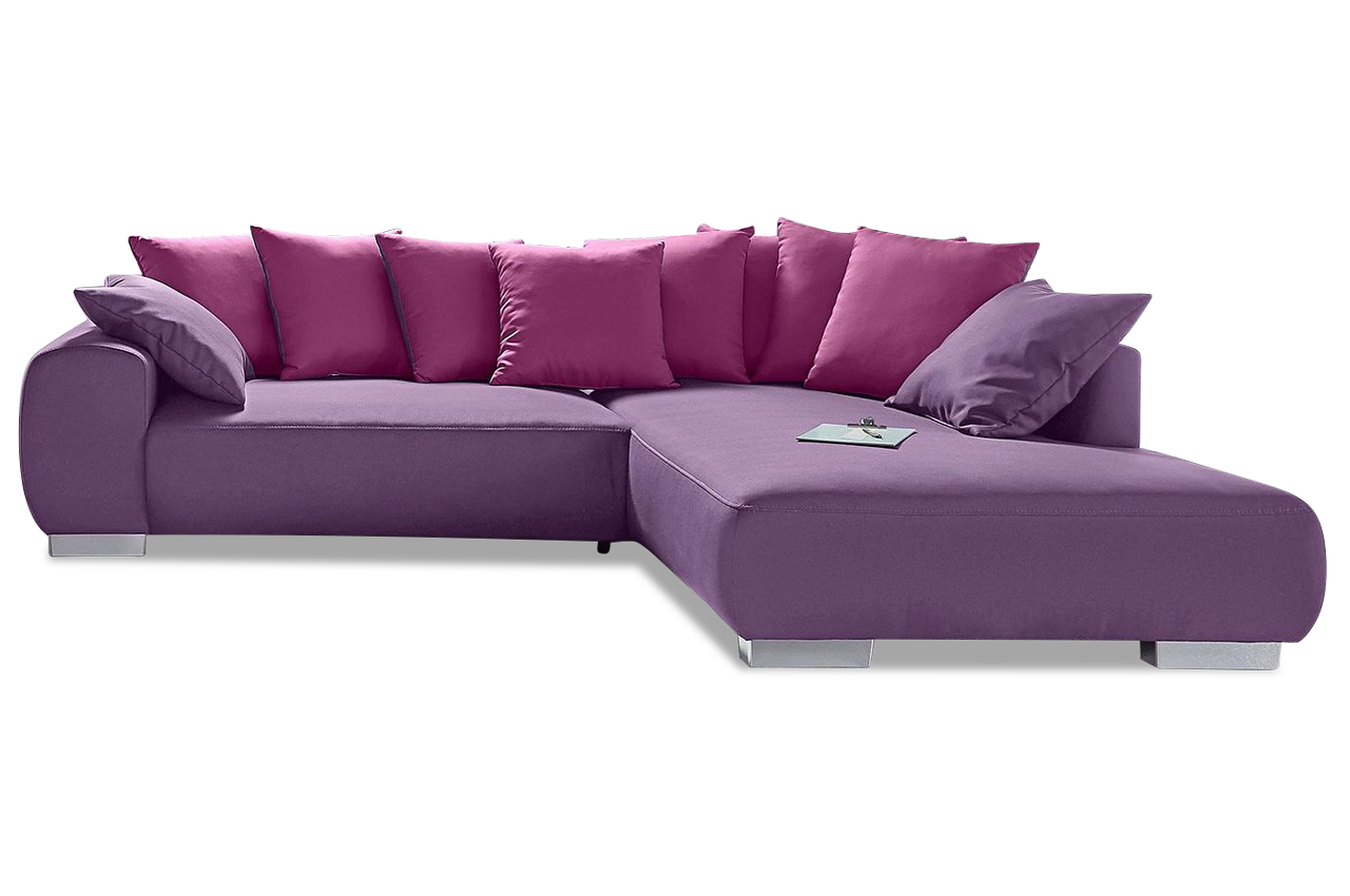 nova via ecksofa xl summertime mit schlaffunktion violette sofa couch eck ebay. Black Bedroom Furniture Sets. Home Design Ideas
