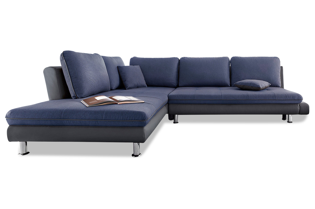 ecksofa xl blau sofas zum halben preis. Black Bedroom Furniture Sets. Home Design Ideas