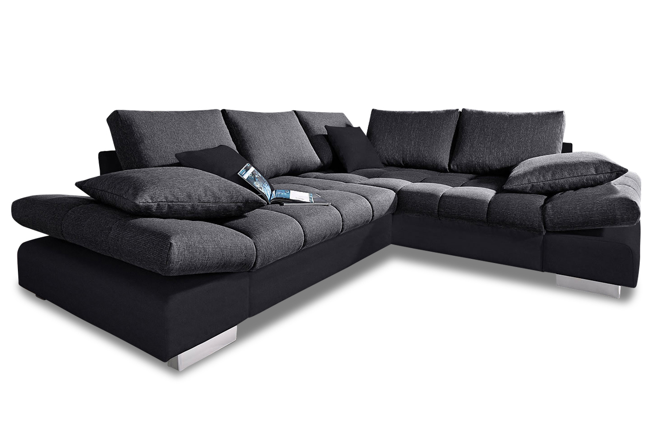 nova via ecksofa xl free port mit schlaffunktion anthrazit sofas zum halben preis. Black Bedroom Furniture Sets. Home Design Ideas