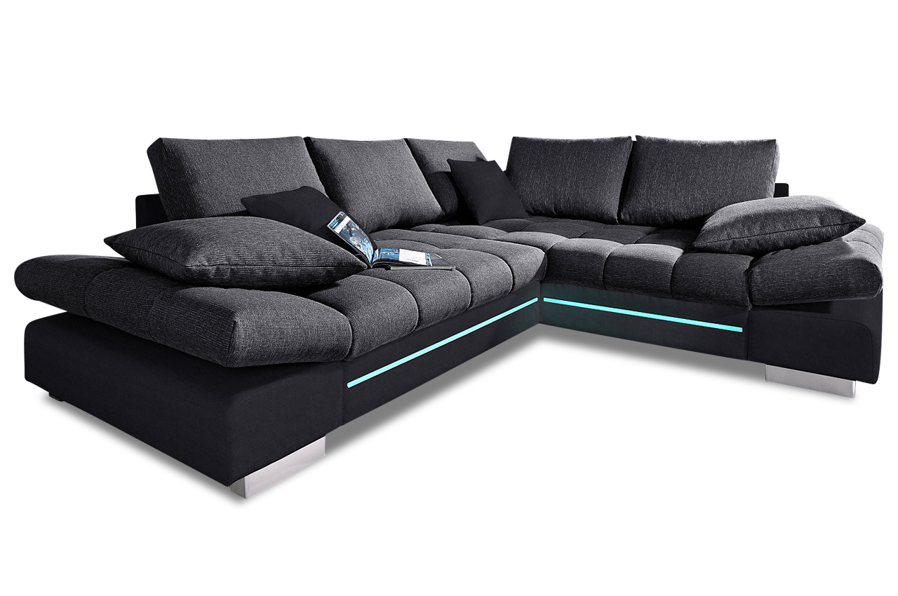 megaecke freeport mit led sofas zum halben preis. Black Bedroom Furniture Sets. Home Design Ideas