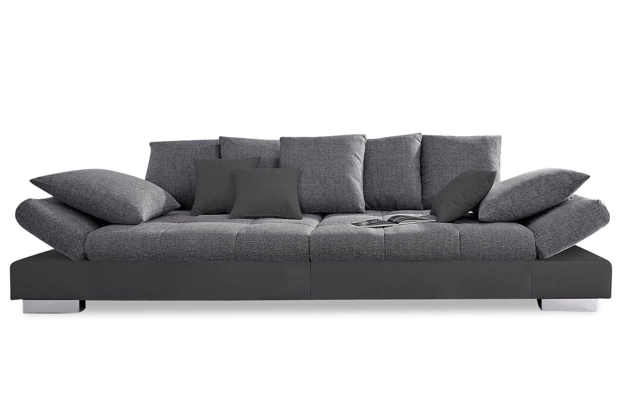 nova via bigsofa free port anthrazit sofa couch ecksofa ebay. Black Bedroom Furniture Sets. Home Design Ideas