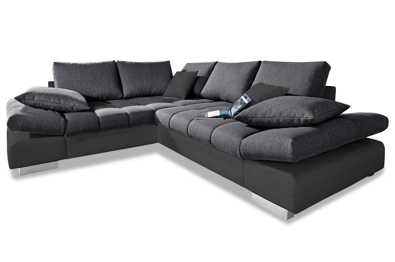 Megaecke freeport mit bett stoff sofa couch ecksofa ebay for Sofa bett kombination