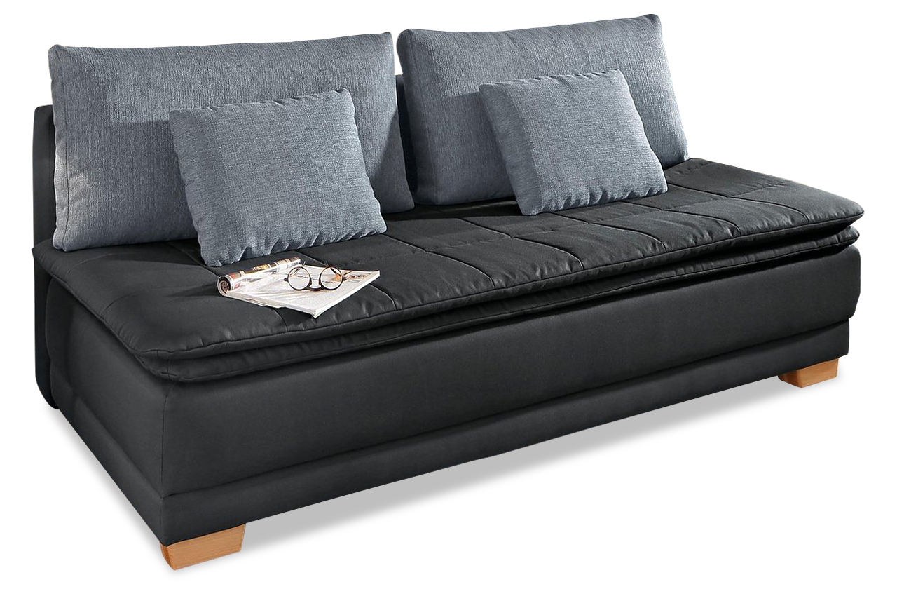 schlafsofa curly anthrazit mit boxspring sofas zum halben preis. Black Bedroom Furniture Sets. Home Design Ideas