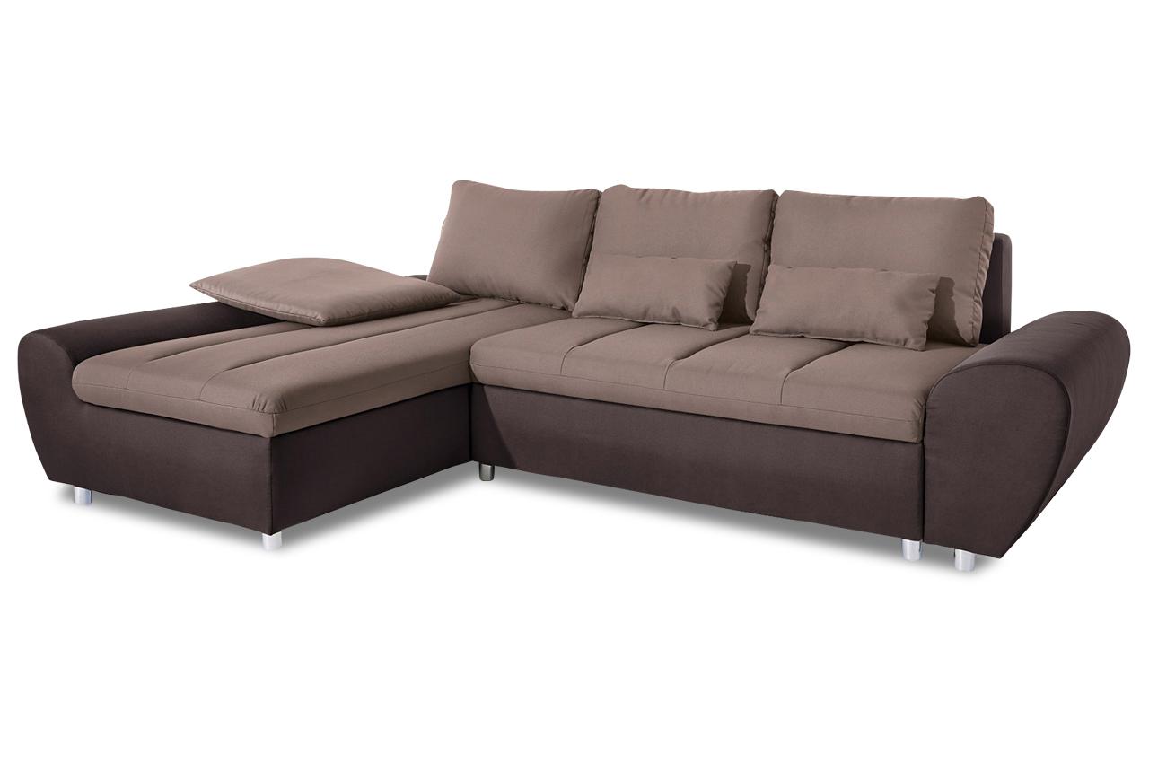 Sit&More Ecksofa Bandos XL  mit Schlaffunktion  Braun  -> Ecksofa Mit Schlaffunktion Braun
