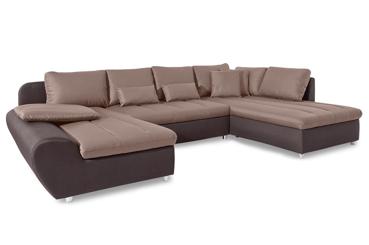 sit more wohnlandschaft bandos xxl mit schlaffunktion braun sofas zum halben preis. Black Bedroom Furniture Sets. Home Design Ideas