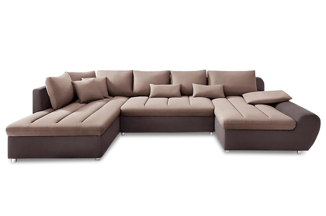 sit more wohnlandschaft bandos xl mit schlaffunktion braun sofas zum halben preis. Black Bedroom Furniture Sets. Home Design Ideas