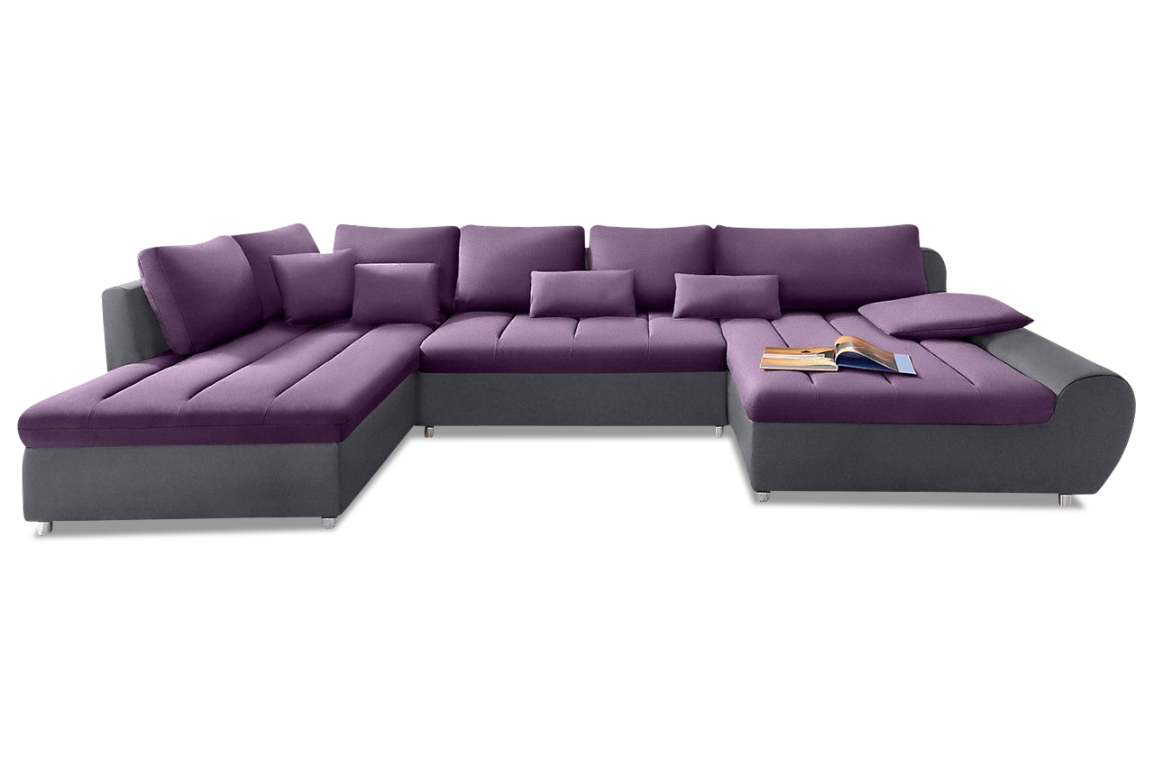 sit more wohnlandschaft bandos xxl mit schlaffunktion violette sofas zum halben preis. Black Bedroom Furniture Sets. Home Design Ideas