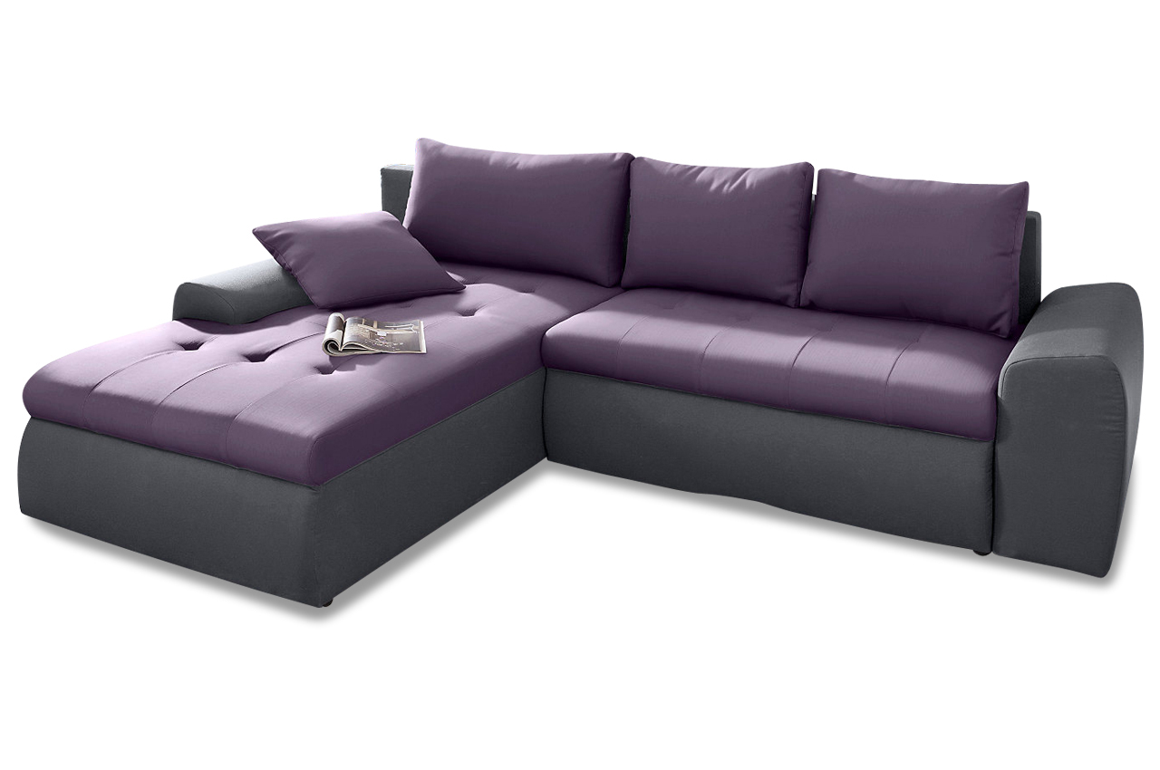 ecksofa mit schlaffunktion violette sofas zum halben. Black Bedroom Furniture Sets. Home Design Ideas