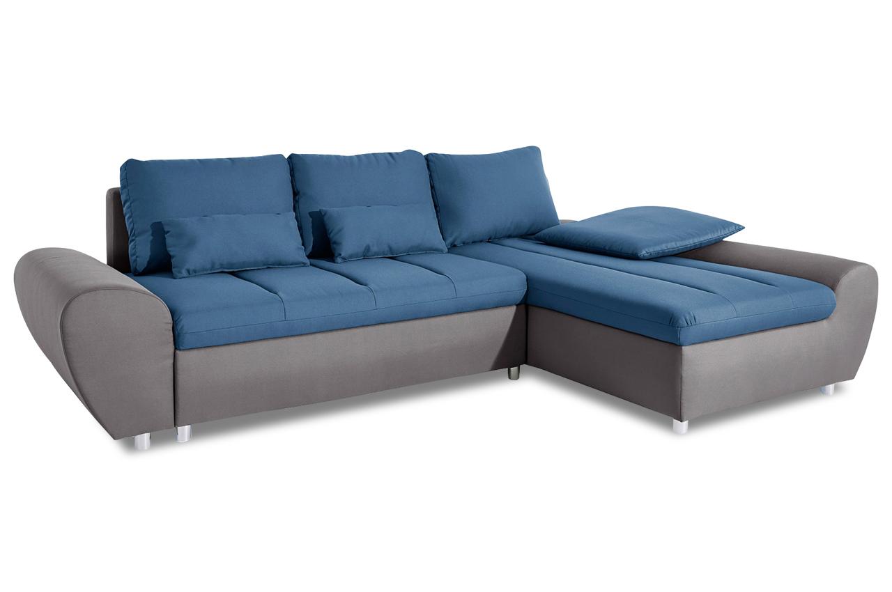 Sit more ecksofa bandos xxl blau sofas zum halben preis for Ecksofa 2 00
