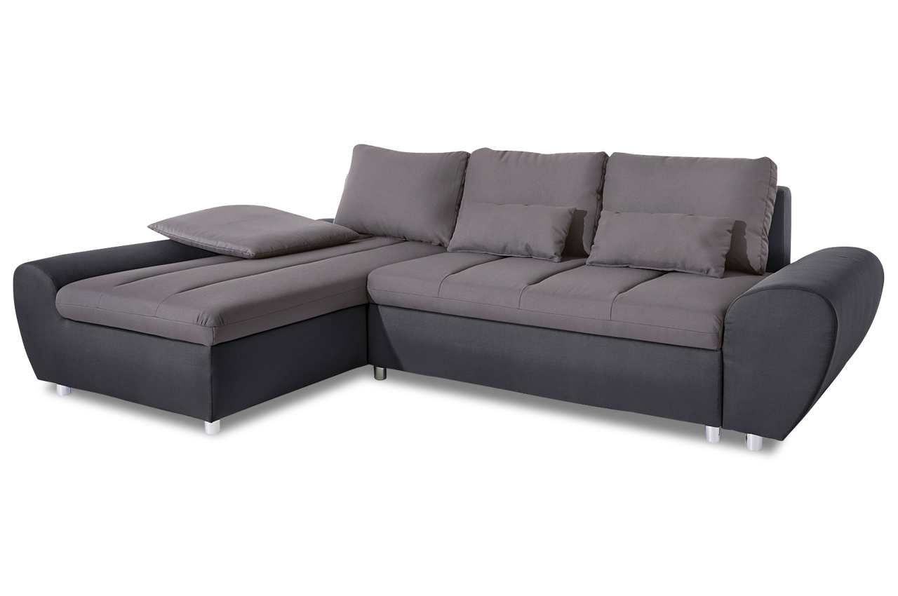sit more ecksofa bandos xxl mit schlaffunktion grau. Black Bedroom Furniture Sets. Home Design Ideas