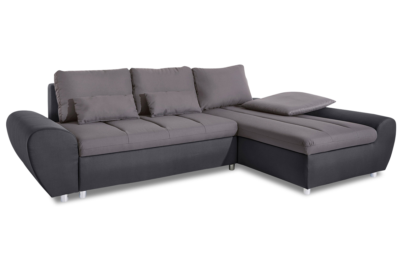 sit more ecksofa bandos xl mit schlaffunktion grau. Black Bedroom Furniture Sets. Home Design Ideas