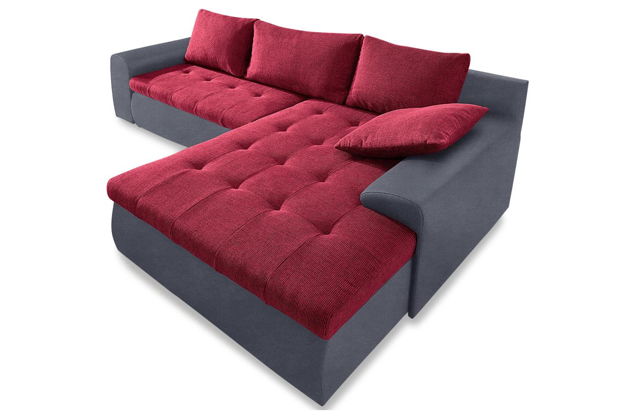 polsterecke mit schlaffunktion rot rot ecksofas und. Black Bedroom Furniture Sets. Home Design Ideas