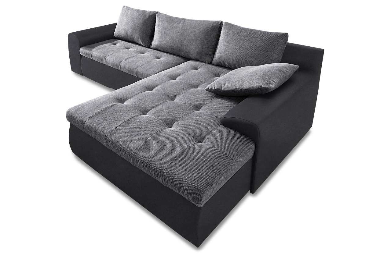 ecksofa cecile xl 2 mit schlaffunktion grau sofas zum halben preis. Black Bedroom Furniture Sets. Home Design Ideas