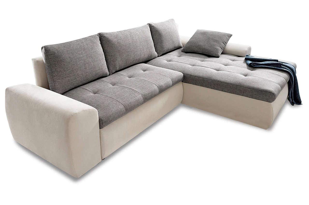 ecksofa cecile xl 2 mit schlaffunktion grau sofas. Black Bedroom Furniture Sets. Home Design Ideas