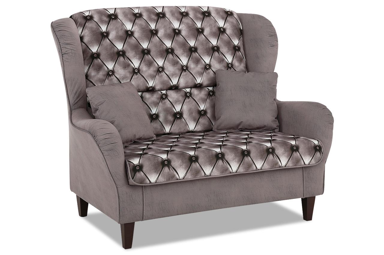 nova via 2er sofa nicola grau sofas zum halben preis. Black Bedroom Furniture Sets. Home Design Ideas