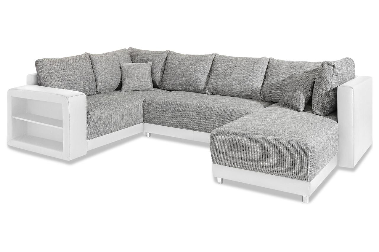 wohnlandschaft weiss sofas zum halben preis. Black Bedroom Furniture Sets. Home Design Ideas