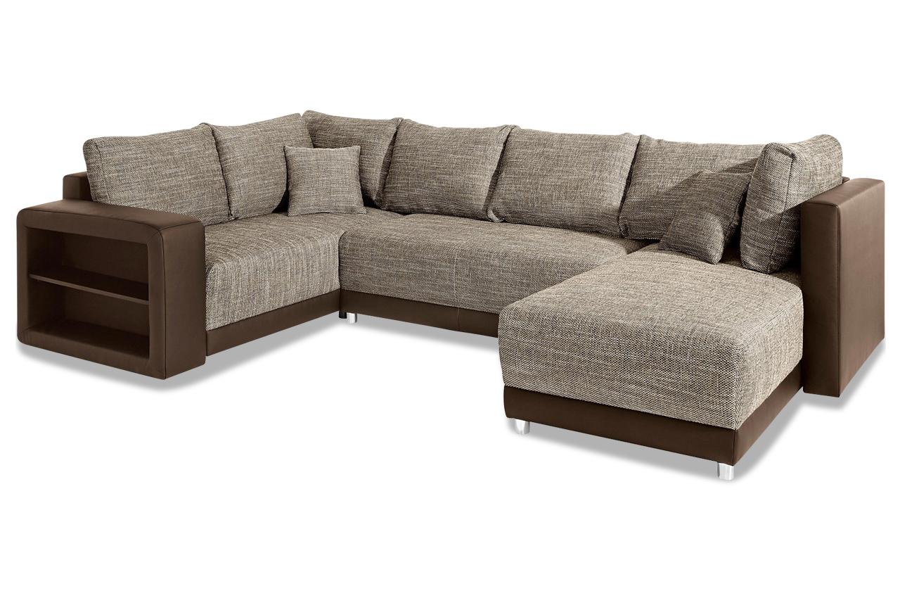 wohnlandschaft braun sofas zum halben preis. Black Bedroom Furniture Sets. Home Design Ideas