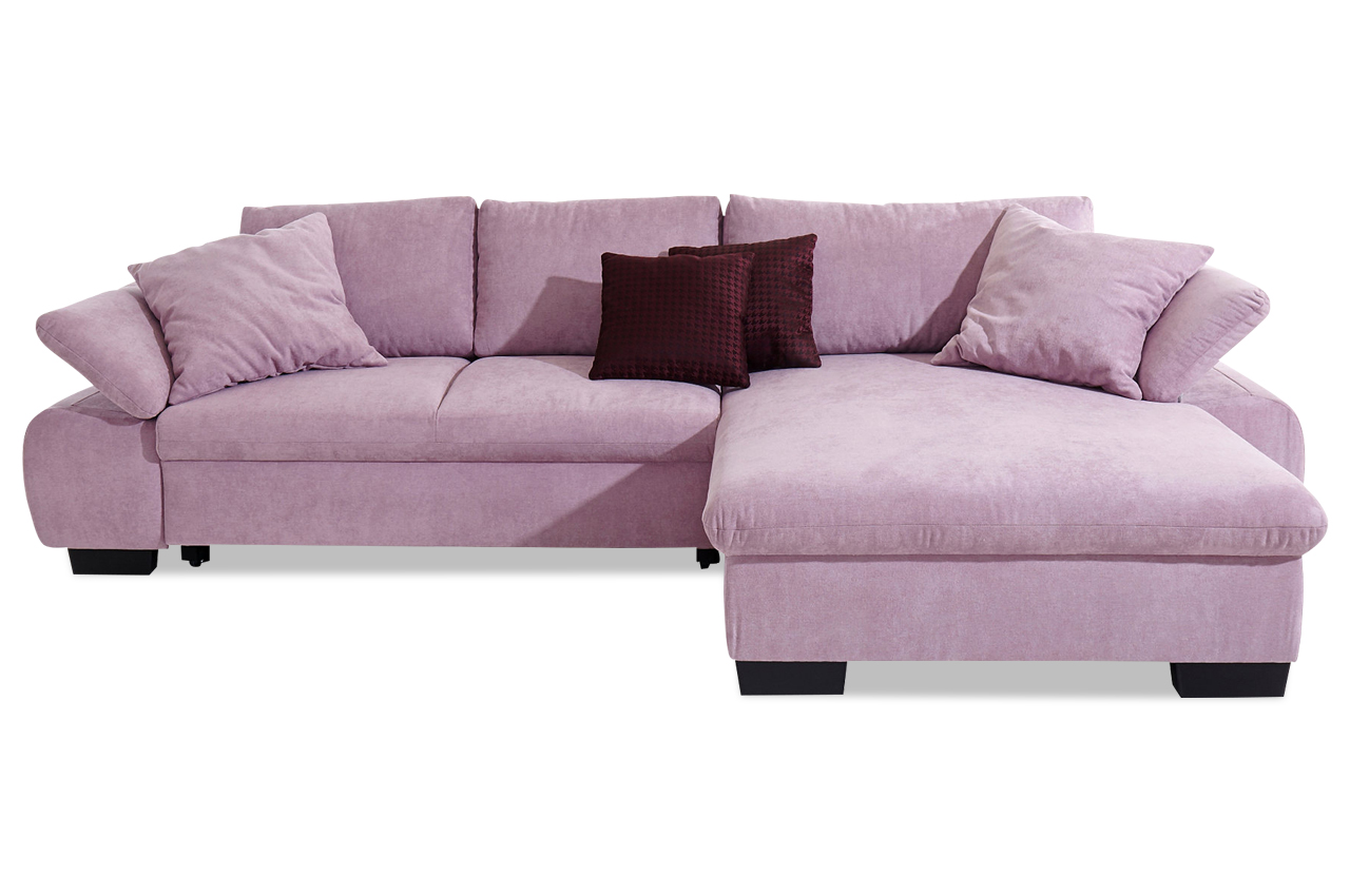 Polsterecke lima mit bett stoff sofa couch ecksofa ebay for Bett mit couch