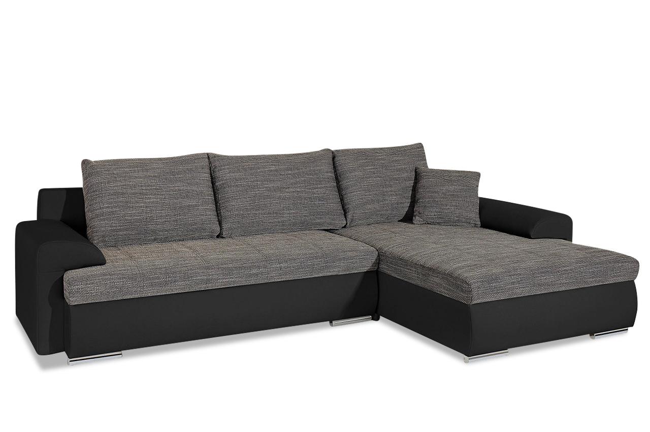 sit more ecksofa loriot mit schlaffunktion anthrazit. Black Bedroom Furniture Sets. Home Design Ideas