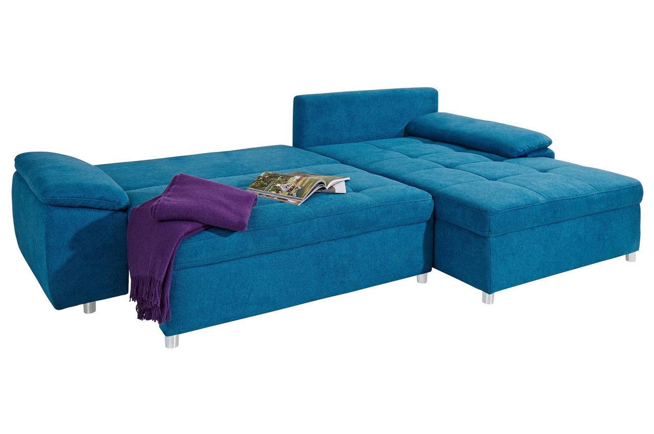 Sofa L-Form rechts - mit Schlaffunktion - Türkis | Sofas ...