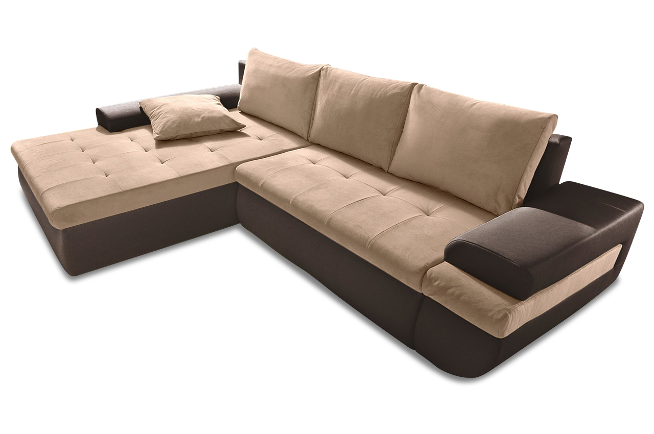 Sit more polsterecke caramba xxl sofas zum halben preis for Braunes ecksofa