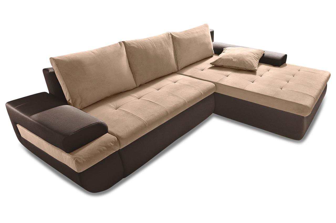 Ecksofa caramba xl braun sofas zum halben preis for Ecksofa braun mit schlaffunktion