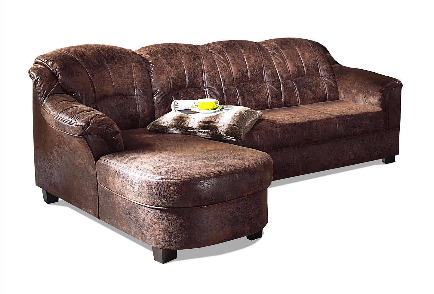 ecksofas leder braun visavis products br hl sippold. Black Bedroom Furniture Sets. Home Design Ideas