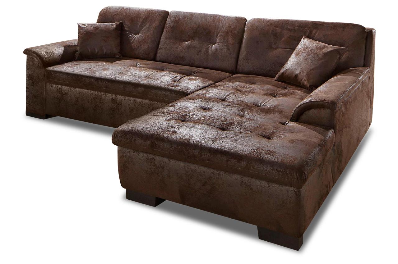 Polsterecke bergen mit bett stoff sofa couch ecksofa ebay for Sofa bett kombination