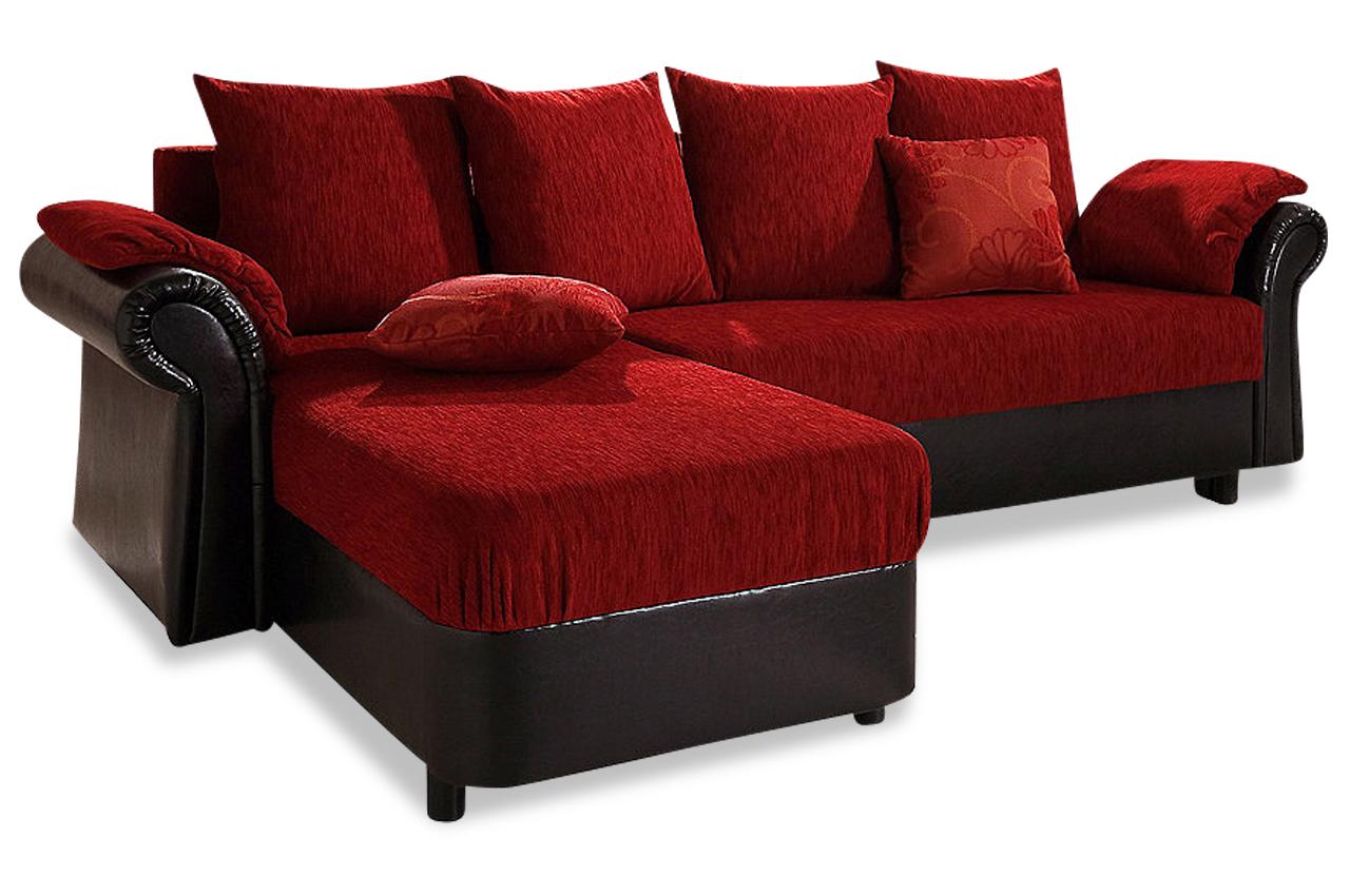 ecksofa mit schlaffunktion rot sofas zum halben preis. Black Bedroom Furniture Sets. Home Design Ideas
