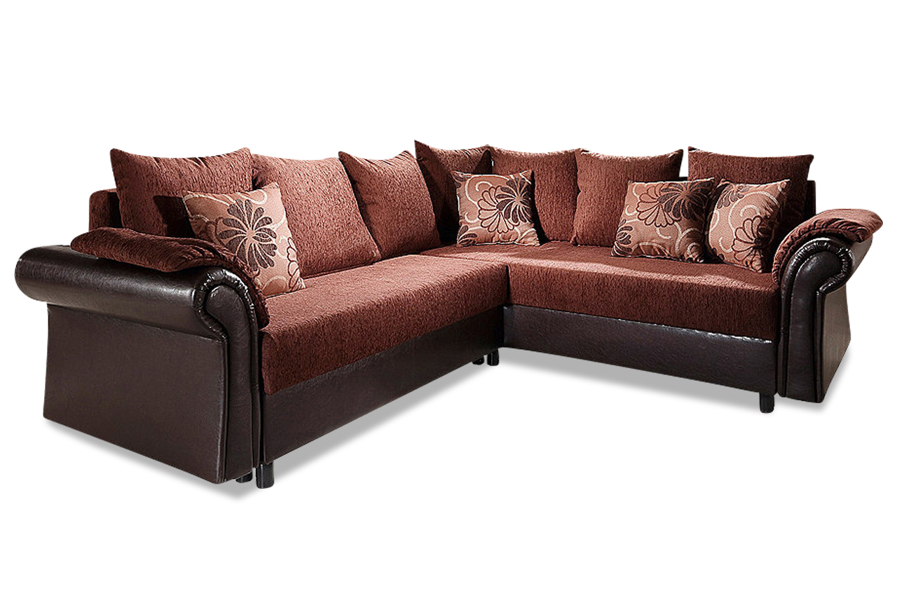 ecksofa xl carmen mit schlaffunktion braun sofa couch ecksofa ebay. Black Bedroom Furniture Sets. Home Design Ideas
