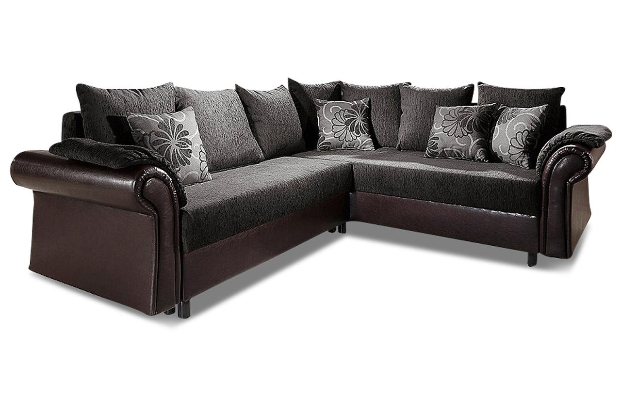 ecksofa xl mit schlaffunktion schwarz sofas zum. Black Bedroom Furniture Sets. Home Design Ideas