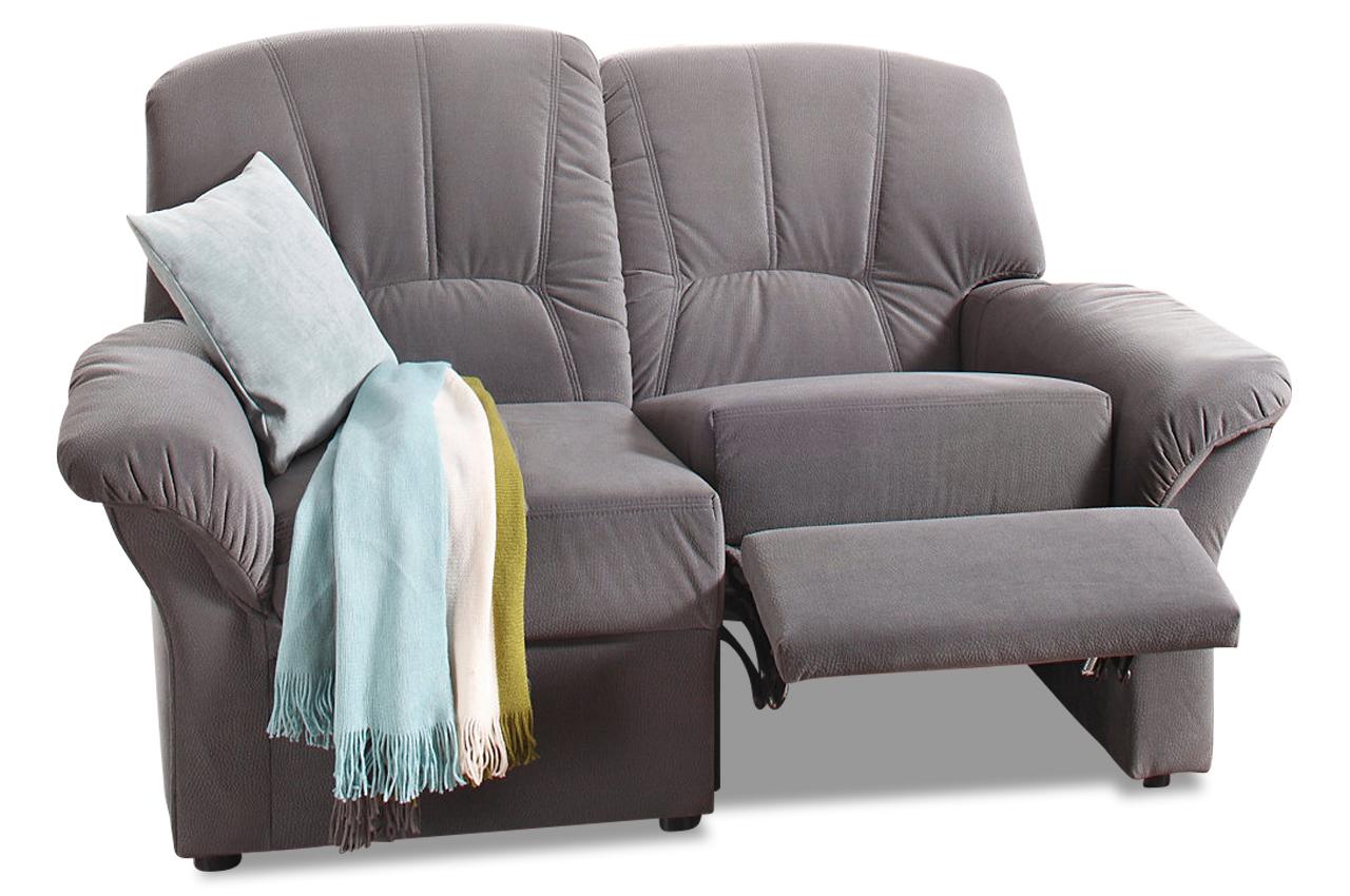 2er Sofa Wesley Mit Relax Anthrazit Mit Federkern Sofa Couch Ecksofa Ebay