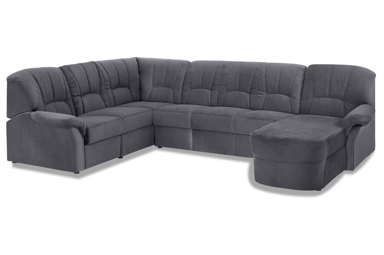 wohnlandschaft wesley mit relax grau sofas zum halben preis. Black Bedroom Furniture Sets. Home Design Ideas
