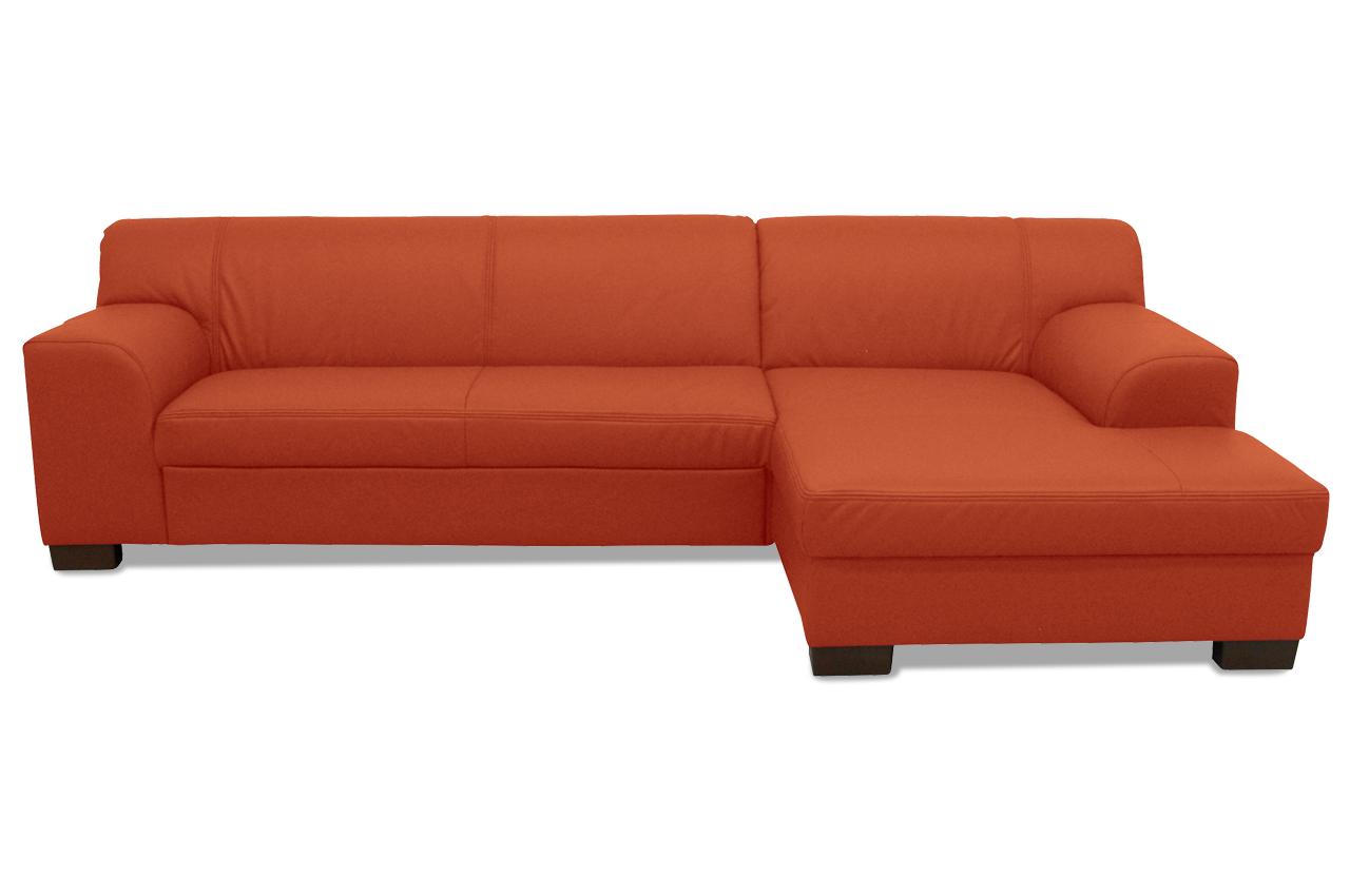 Leder ecksofa amando mit schlaffunktion rot sofa for Leder ecksofa mit bettfunktion