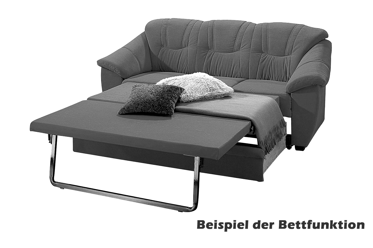 leder schlafsofa savona mit schlaffunktion creme mit. Black Bedroom Furniture Sets. Home Design Ideas