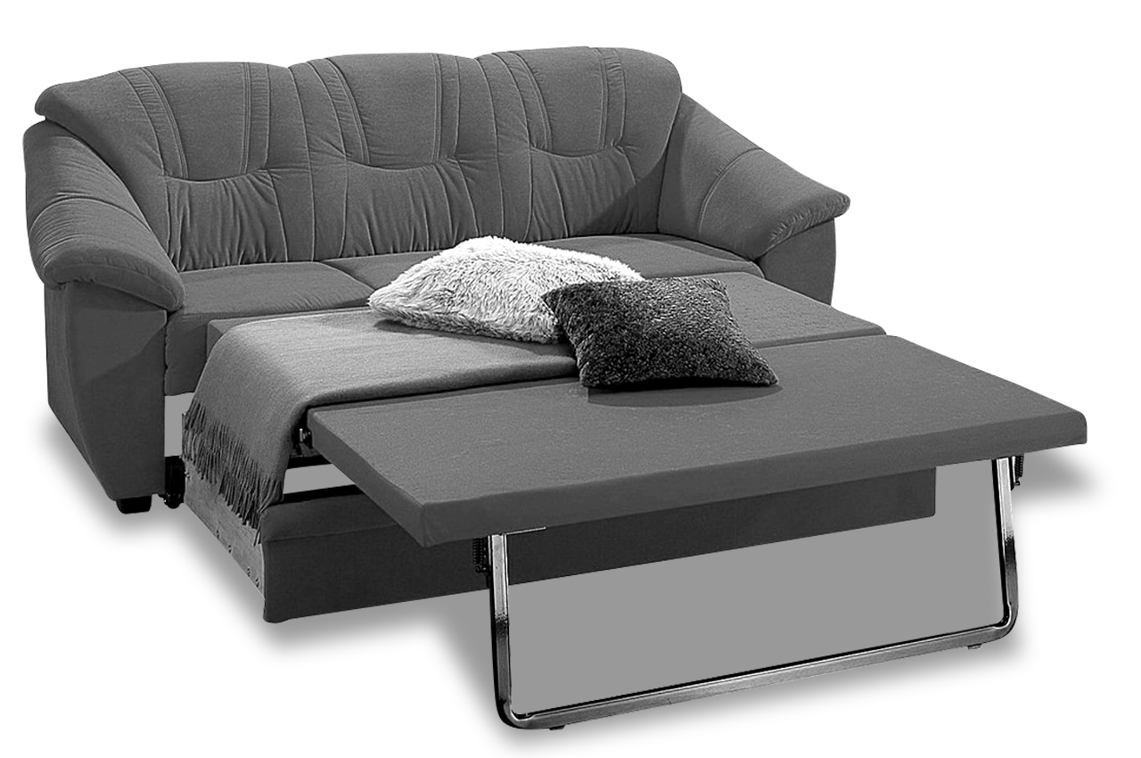 3er sofa mit schlaffunktion creme mit federkern. Black Bedroom Furniture Sets. Home Design Ideas