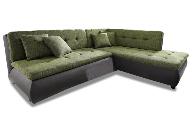 Home Group Ecksofa XL Pool - mit Schlaffunktion - Gruen