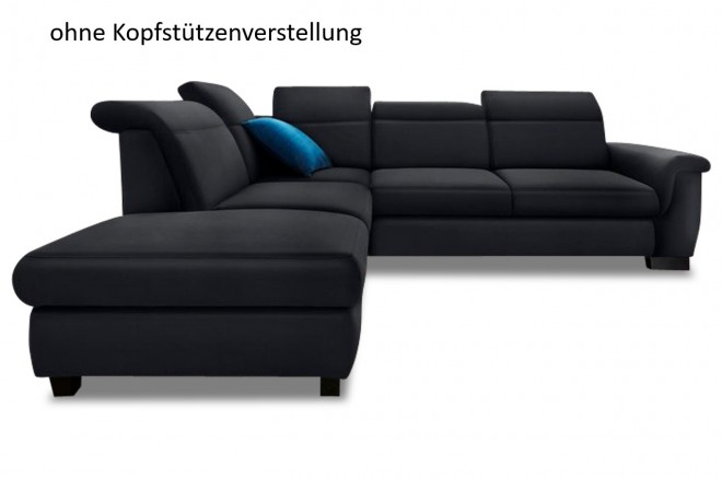 Ecksofa XL Sully links - Schwarz