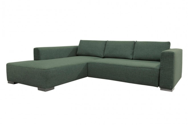Tom Tailor Ecksofa HeavenStyleColors links - mit Schlaffunktion - Gruen mit Federkern