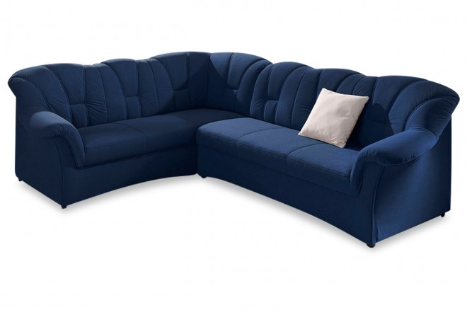 Ecksofa XL Papenburg-M links - Blau