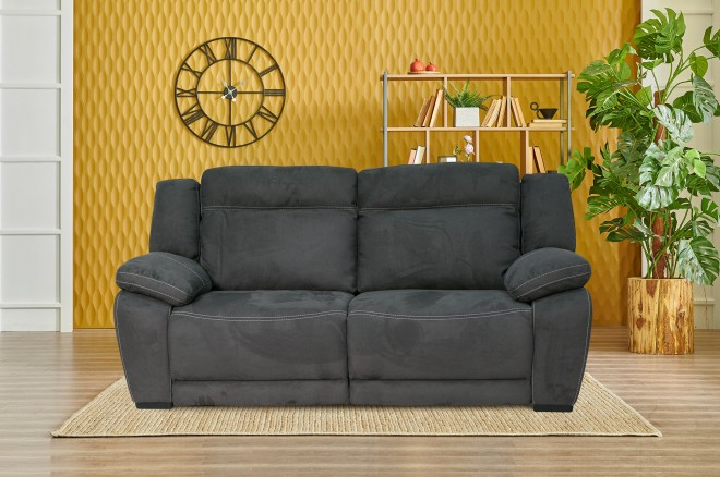 HTL International 3er-Sofa 2669 - Schwarz