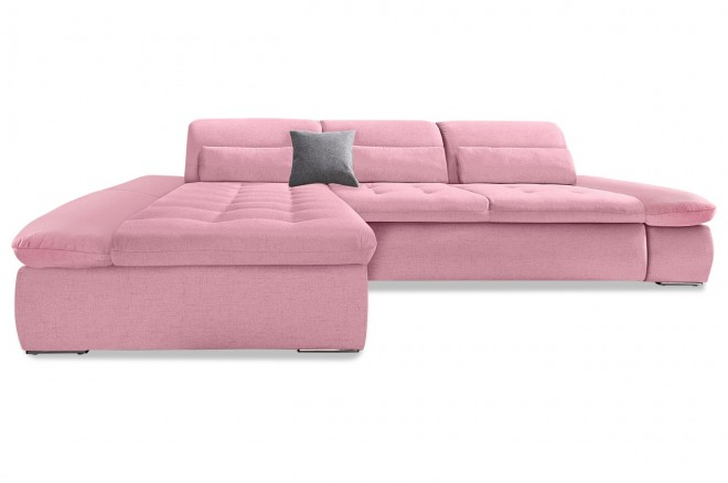 Ecksofa Aldo Kis links - Pink