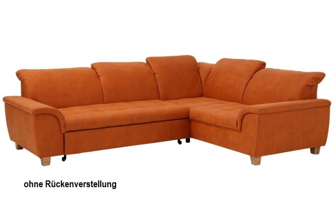 Ecksofa XL Lyla rechts - Orange