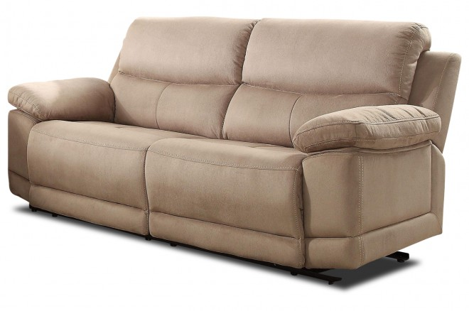 Furntrade 3er-Sofa Molly - mit Relax - Creme mit Federkern