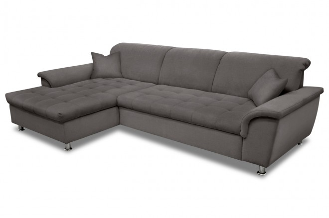 Ecksofa Franzi links - Grau