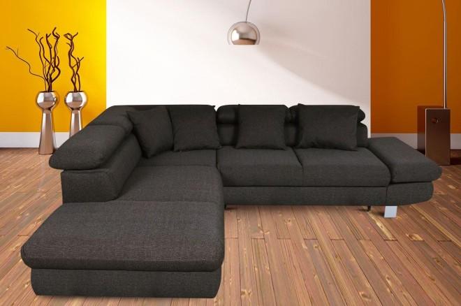 Sofa L-Form Sun-P links - mit Schlaffunktion mit Federkern