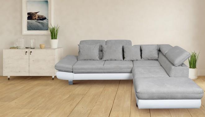 PL Ecksofa XL Sun-P rechts - mit Relax und Schlaffunktion - Beige
