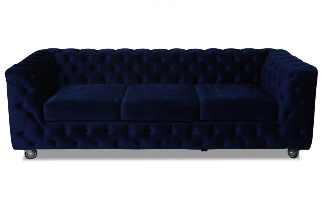 stolmar 3er sofa chesterfield blau sofas zum halben preis. Black Bedroom Furniture Sets. Home Design Ideas