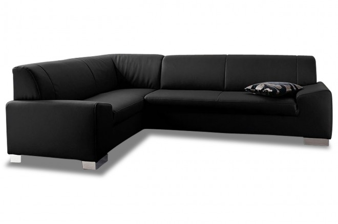Ecksofa XL Alisson links - Schwarz